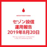 【セゾン投信】2019年8月20日  運用実績