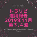 【FX】トラリピ 2019年11月第3、4週の運用実績